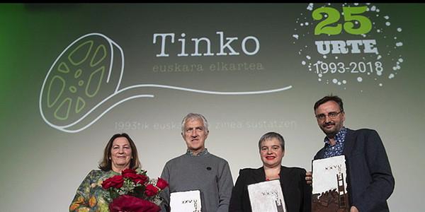 Tinko Euskara Elkartearen aitortza Joxe Ramon Ituraini