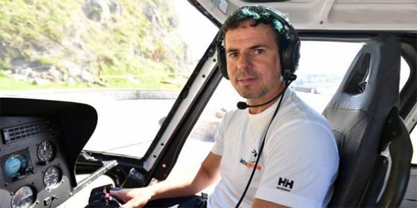 Haritz Galarraga Santa Klara Irlako helikoptero-lanetan