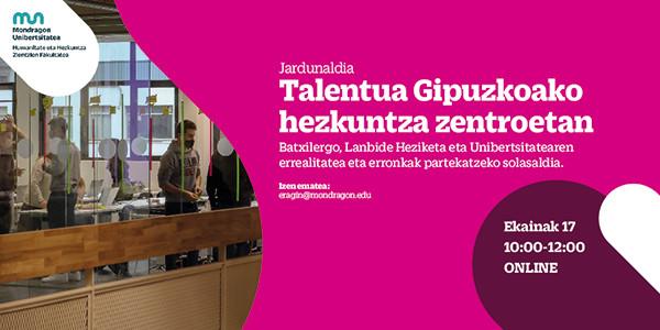 Talentua Gipuzkoako Hezkuntza Zentroetan jardunaldia online