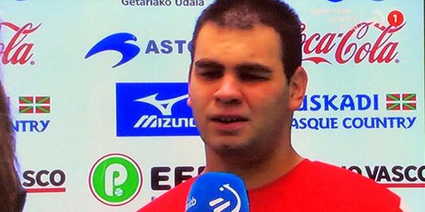 Xabier Arizkorreta, campeón de pelota adaptada